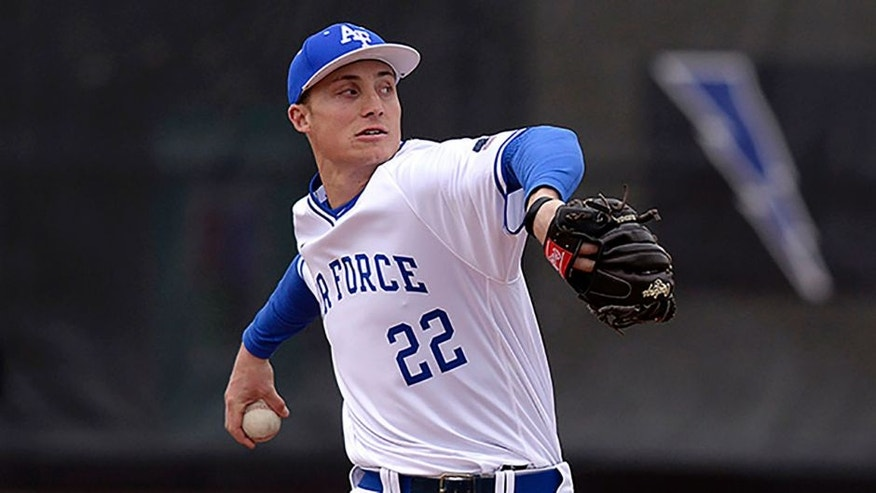 The Minnesota Twins selected Air Force pitcher Griffin Jax in the third round