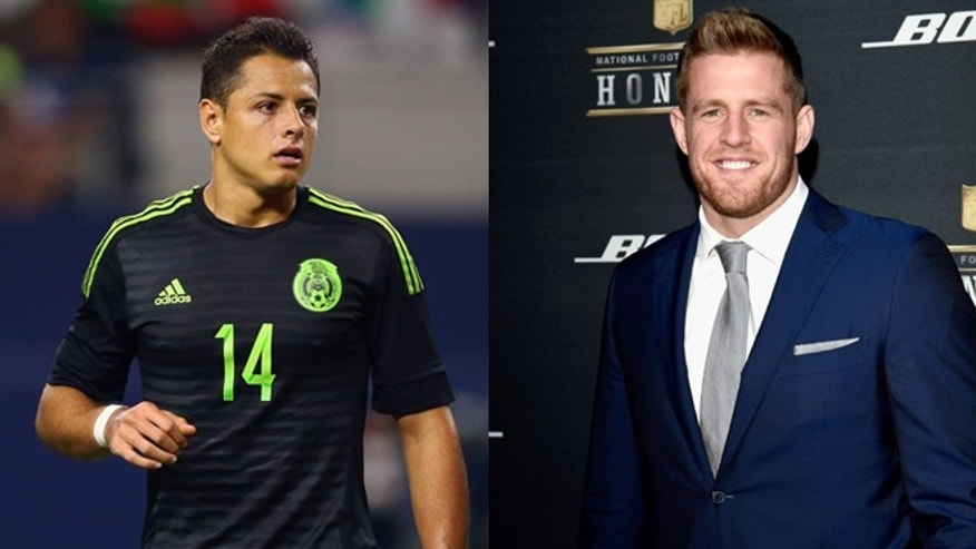 Javier 'Chicharito' Hernandez (left) and J.J. Watt. (Photos: Getty Images)