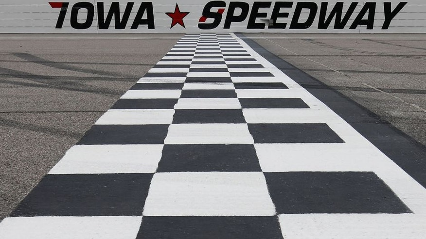 NEWTON, IA - MAY 17: A view of the start/finish line before the NASCAR XFinity Series 3M 250 at Iowa Speedway on May 16, 2015 in Newton, Iowa. (Photo by Todd Warshaw/NASCAR via Getty Images)