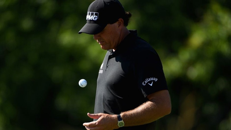 OAKMONT, PA - JUNE 17: Phil Mickelson of the United States waits on the fourth hole during the second round of the U.S. Open at Oakmont Country Club on June 17, 2016 in Oakmont, Pennsylvania. (Photo by Ross Kinnaird/Getty Images)