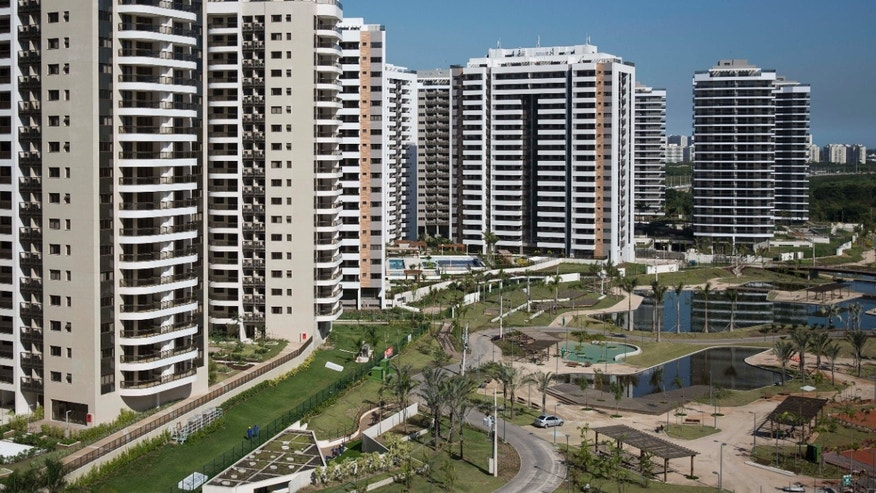 General view of buildings at the Olympic Village in Rio de Janeiro, Brazil.