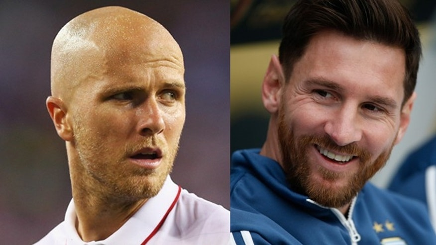 U.S. captain Michael Bradley (left) and Argentina's Leo Messi. (Photos: Getty Images)