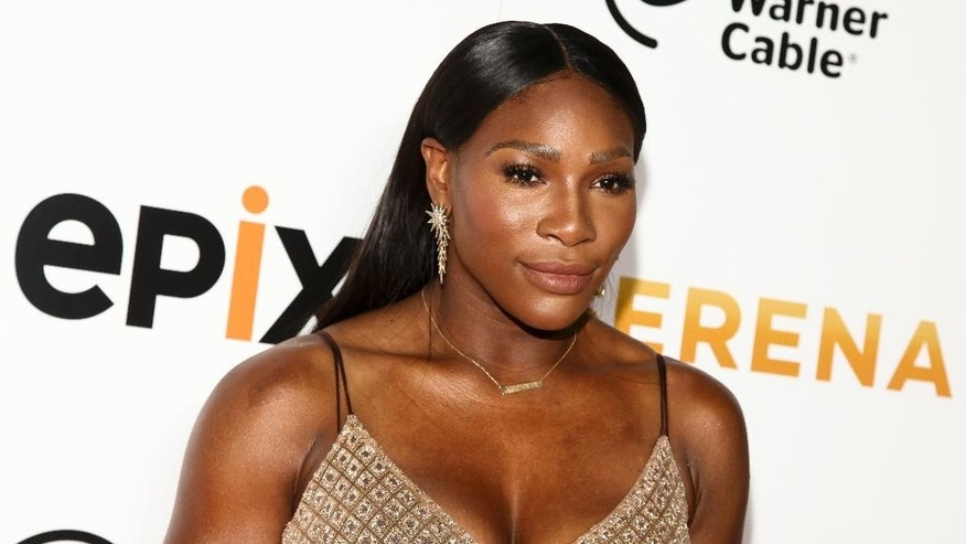 "FILE - In this June 13, 2016, file photo, Serena Williams attends the premiere of EPIX original documentary ""Serena,"" at the SVA Theatre in New York. Williams appears in a video to promote the new ""Together Women Can"" campaign from Sheryl Sandberg's Lean In organization. (Photo by Andy Kropa/Invision/AP, File)"
