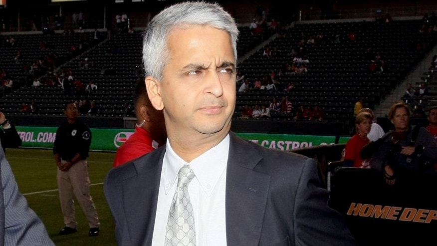 CARSON, CA - SEPTEMBER 02: President of the United States Soccer Federation Sunil Gulati looks on prior to the International Friendly match between Costa Rica and the USA at The Home Depot Center on September 2, 2011 in Carson, California. Costa Rica defeated USA 1-0. (Photo by Victor Decolongon/Getty Images) *** Local Caption *** Sunil Gulati