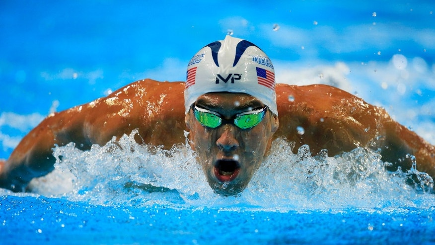 Michael Phelps swims in a men's 200-meter butterfly semifinal Tuesday.