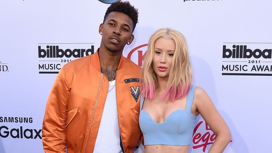 LAS VEGAS, NV - MAY 17: Athlete Nick Young and musician Iggy Azalea attend the 2015 Billboard Music Awards at MGM Grand Garden Arena on May 17, 2015 in Las Vegas, Nevada. (Photo by Steve Granitz/WireImage)
