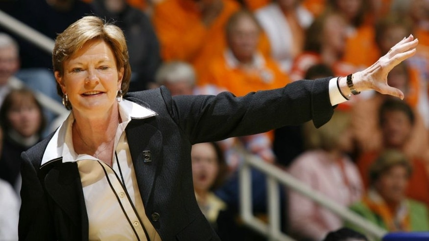 WEST LAFAYETTE, IN - MARCH 25: Pat Summitt, head coach of the Tennessee Lady Volunteers, looks on against the Purdue Boilermakers during the 2008 NCAA Tournament second round game at Mackey Arena on March 25, 2008 in West Lafayette, Indiana. (Photo by Joe Robbins/Getty Images)