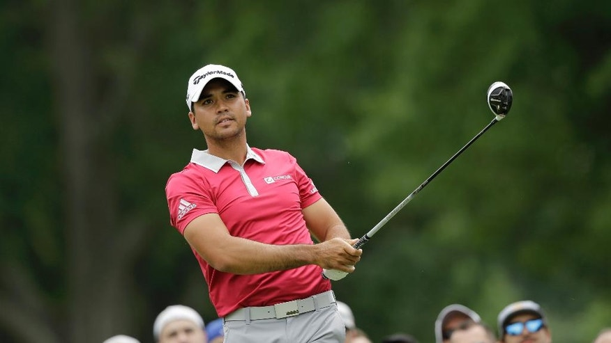 Jason Day, from Australia, tees off on the third hole during the final round of the Bridgestone Invitational golf tournament at Firestone Country Club, Sunday, July 3, 2016, in Akron, Ohio. (AP Photo/Tony Dejak)