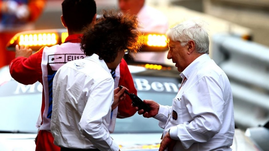 BAKU, AZERBAIJAN - JUNE 17: Herbie Blash, FIA Deputy Race Director on track discussing the safety concerns over the kerbs during practice for the European Formula One Grand Prix at Baku City Circuit on June 17, 2016 in Baku, Azerbaijan. (Photo by Dan Istitene/Getty Images)