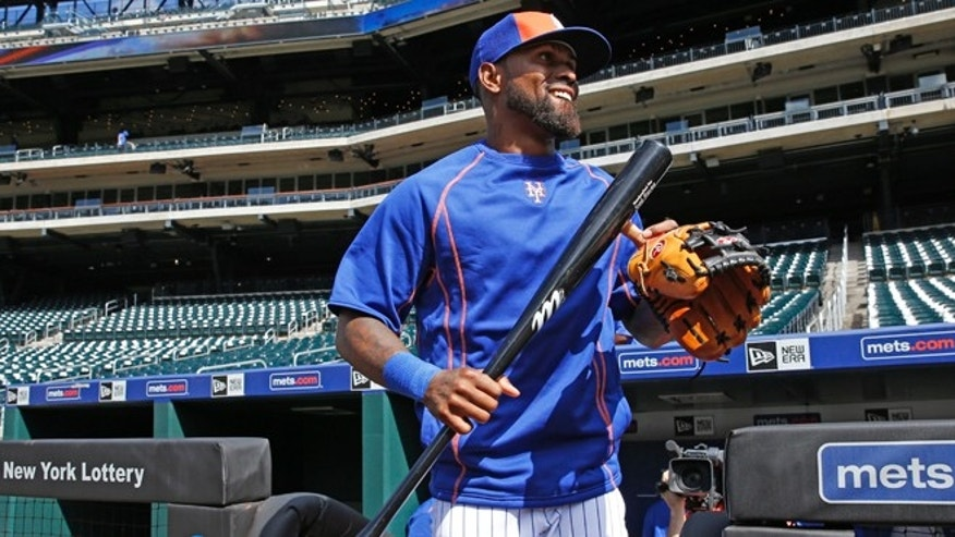 Jose Reyes walks on the field in his first day with his former team, Tuesday, July 5, 2016, in New York.