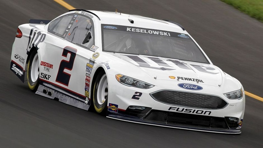 SPARTA, KY - JULY 07: Brad Keselowski, driver of the #2 Miller Lite Ford, practices for the NASCAR Sprint Cup Series Quaker State 400 at Kentucky Speedway on July 7, 2016 in Sparta, Kentucky. (Photo by Dylan Buell/Getty Images)