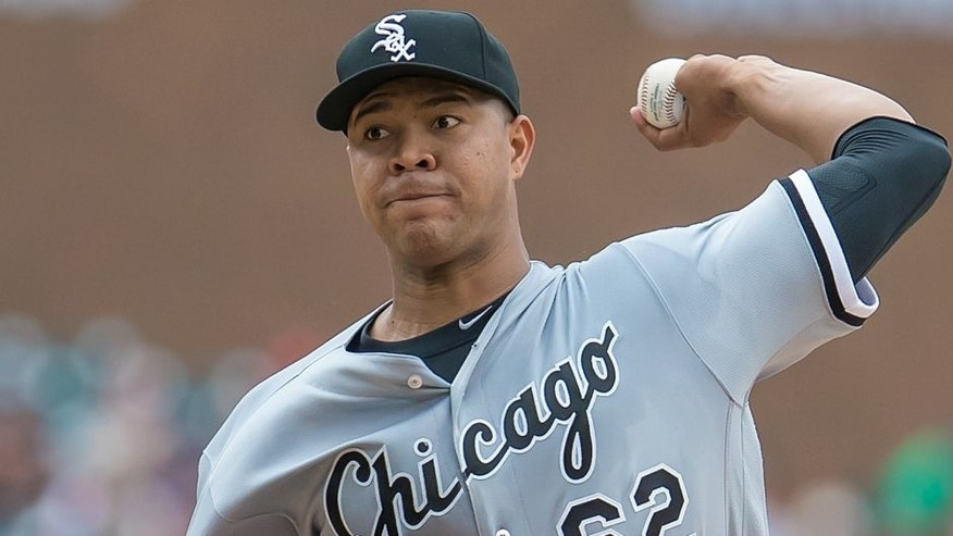 <p>DETROIT, MI - JUNE 05: Starting pitcher Jose Quintana #62 of the Chicago White Sox throws in the first inning during a MLB game against the Detroit Tigers at Comerica Park on June 5, 2016 in Detroit, Michigan. The Tigers defeated the White Sox 5-2. (Photo by Dave Reginek/Getty Images)*** Local Caption *** Jose Quintana</p>