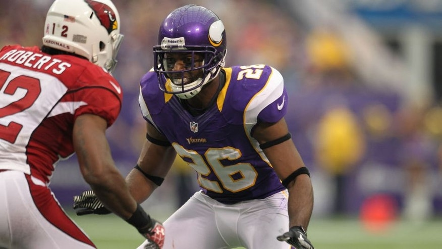 Minnesota Vikings defensive back Antoine Winfield against the Arizona Cardinals.
