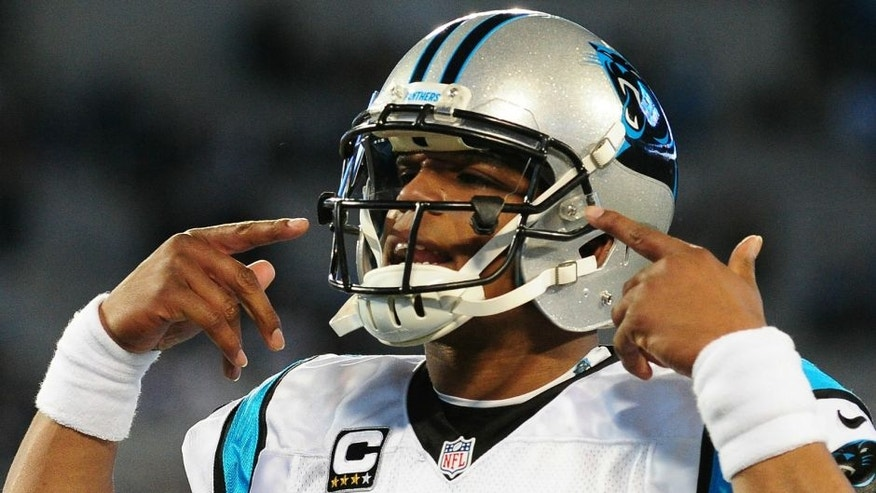 <p>CHARLOTTE, NC - JANUARY 24: Cam Newton #1 of the Carolina Panthers warms up before the NFC Championship Game against the Arizona Cardinals at Bank Of America Stadium on January 24, 2016 in Charlotte, North Carolina. (Photo by Scott Cunningham/Getty Images) *** Local Caption *** Cam Newton,CHARLOTTE, NC - JANUARY 24: Cam Newton #1 of the Carolina Panthers warms up before the NFC Championship Game against the Arizona Cardinals at Bank Of America Stadium on January 24, 2016 in Charlotte, North Carolina. (Photo by Scott Cunningham/Getty Images)</p>
