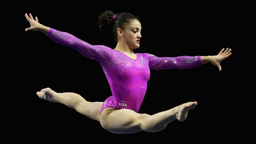 EVERETT, WA - APRIL 09:  Laurie Hernandez of the United States competes in the floor exercise during Day 2 of the 2016 Pacific Rim Gymnastics Championships at Xfinity Arena on April 9, 2016 in Everett, Washington.  (Photo by Ezra Shaw/Getty Images)