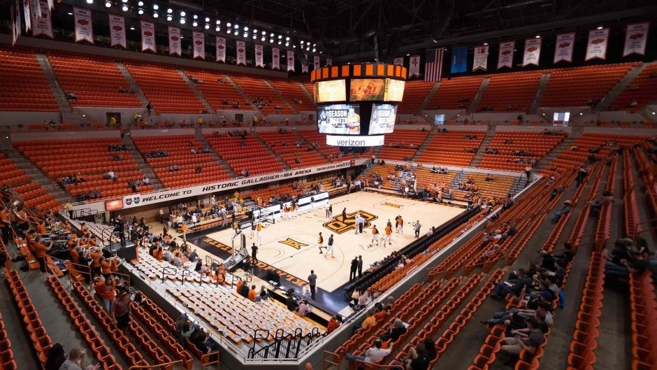 Feb 27, 2016; Stillwater, OK, USA; A general view of Gallagher-Iba Arena prior to the game between the West Virginia Mountaineers and the Oklahoma State Cowboys. Mandatory Credit: Rob Ferguson-USA TODAY Sports