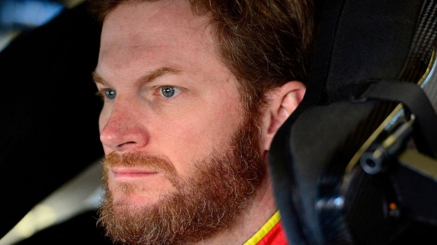 SONOMA, CA - JUNE 24: Dale Earnhardt Jr., driver of the #88 Axalta Chevrolet, prepares to drive during practice for the NASCAR Sprint Cup Series Toyota/Save Mart 350 at Sonoma Raceway on June 24, 2016 in Sonoma, California. (Photo by Robert Laberge/Getty Images)