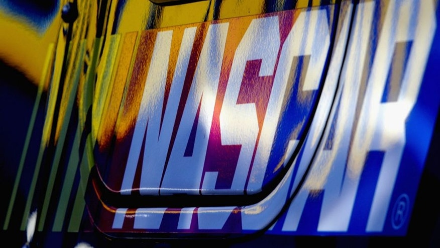 BRISTOL, TN - MARCH 15: View of the NASCAR logo during practice for the NASCAR Sprint Cup Series Food City 500 at Bristol Motor Speedway on March 15, 2014 in Bristol, Tennessee. (Photo by Jerry Markland/Getty Images)
