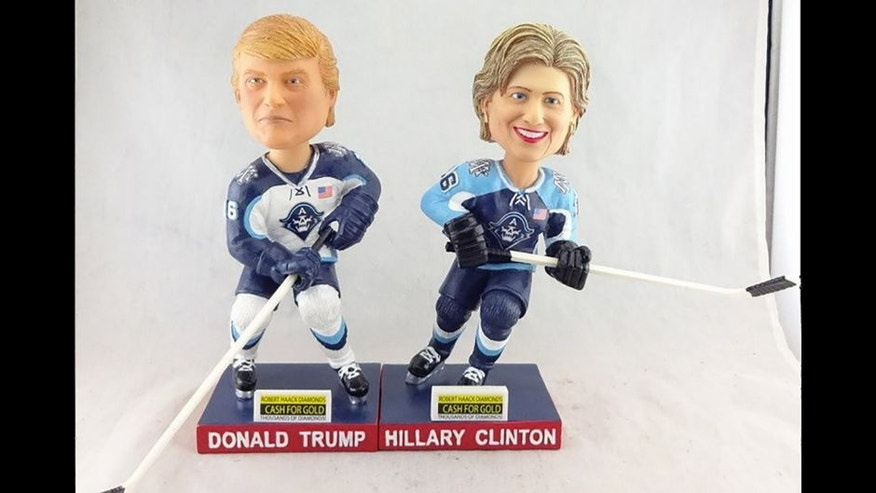 The Milwaukee Admirals plan to give away Hillary Clinton and Donald Trump bobbleheads this fall.
