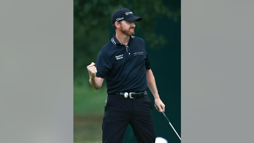 during the final round ofJimmy Walker reacts after winning the PGA Championship golf tournament at Baltusrol Golf Club in Springfield, N.J., Sunday, July 31, 2016. (AP Photo/Mike Groll)