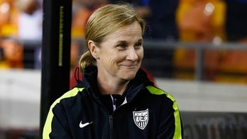 HOUSTON, TX - FEBRUARY 19:  United States coach Jillian Ellis waits for the start of the game against Trinidad and Tobago during their Semifinal of the 2016 CONCACAF Women's Olympic Qualifying at BBVA Compass Stadium on February 19, 2016 in Houston, Texas.  (Photo by Scott Halleran/Getty Images)