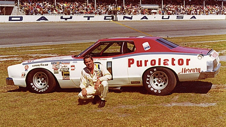 DAYTONA BEACH, FL — 1976: David Pearson started off the NASCAR Cup season at Daytona International Speedway by winning the Daytona 500 in a wild, crashing finish with arch-rival Richard Petty. In July, Pearson finished second to Cale Yarborough in the Firecracker 400. (Photo by ISC Images & Archives via Getty Images)