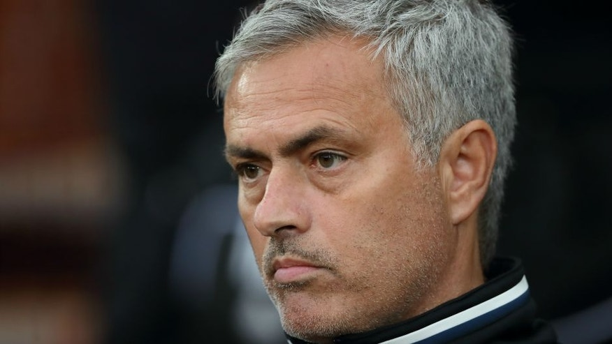 MANCHESTER, ENGLAND - AUGUST 03: Jose Mourinho the head coach / manager of Manchester United during the Wayne Rooney Testimonial match between Manchester United and Everton at Old Trafford on August 3, 2016 in Manchester, England. (Photo by Matthew Ashton - AMA/Getty Images)
