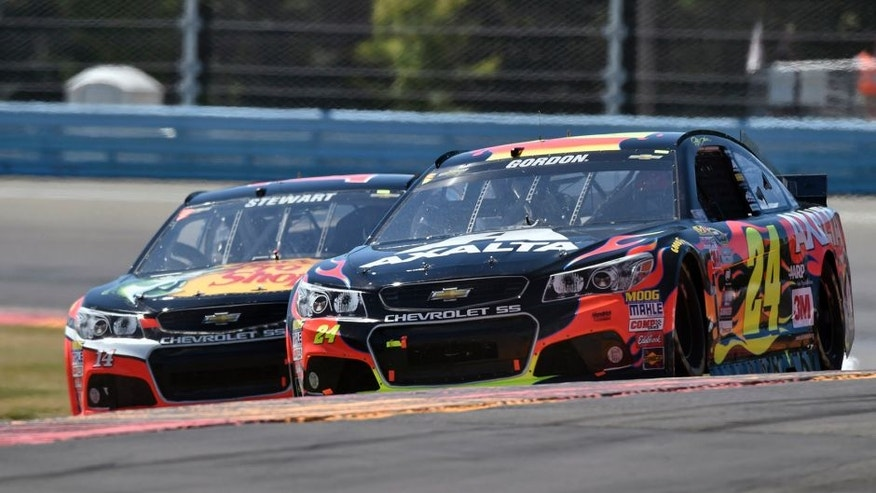 7-9 August, 2015, Watkins Glen, New York USA Jeff Gordon and Tony Stewart ©2015, Nigel Kinrade LAT Photo USA