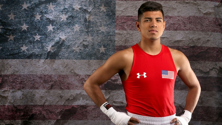 Boxer Carlos Balderas poses for a portrait at the 2016 Team USA Media Summit at The Beverly Hilton Hotel on March 9, 2016 in Beverly Hills, California.  (Photo by Sean M. Haffey/Getty Images)