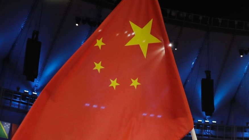 Observers noted the small stars on Chinese flags used in Rio weren't tilted but straight and orientated parallel with the big star.