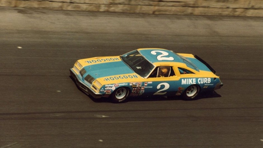 DAYTONA BEACH, FL - FEBRUARY 17: Dale Earnhardt driver of the #2 Rod Osterlund Chevrolet races during the 1980 Winston Cup Daytona 500 at the Daytona International Speedway on February 17, 1980 in Daytona Beach, Florida. The team picked up their first sponsorship in Mike Curb Productions, a music recording company out of California. (Photo by ISC Archives via Getty Images)