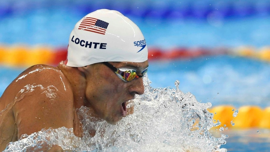 Ryan Lochte at the 2016 Summer Olympics, Wednesday, Aug. 10, 2016.