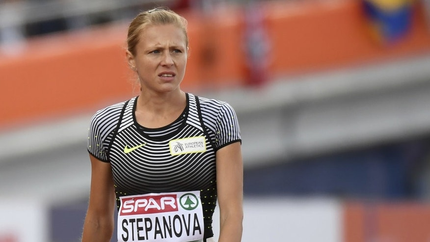 Yulia Stepanova in July 2015.