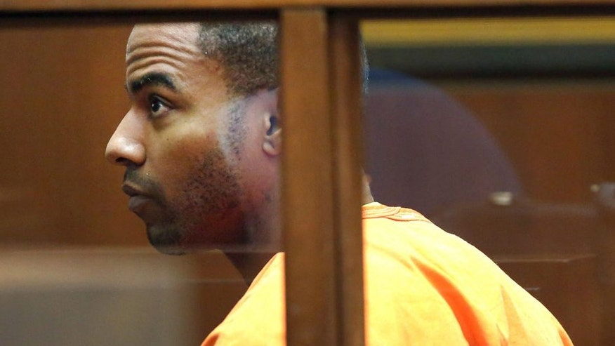 <p>FILE - In this April 18, 2014 file photo, former NFL football All-Pro safety Darren Sharper appears in Superior Court in Los Angeles. Rape charges have been filed in Las Vegas against former NFL safety Darren Sharper, who already faces sexual assault charges in Los Angeles, New Orleans and the Phoenix area. Sharper's Las Vegas attorney, David Chesnoff, appeared Friday, March 20, 2015, before a Las Vegas judge on two sexual assault charges involving two women in January 2014.</p>