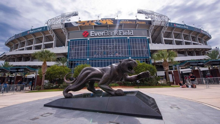 Sep 13, 2015; Jacksonville, FL, USA; A general view of the stadium before the game between the Jacksonville Jaguars and the Carolina Panthers at EverBank Field. Mandatory Credit: Jerome Miron-USA TODAY Sports