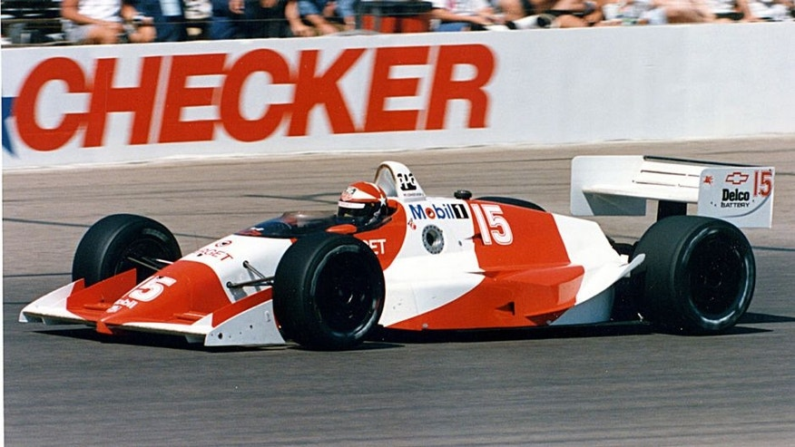 1990: Eddie Cheever ran the 1990 CART Indy Car schedule driving for Target/Chip Ganassi Racing. (Photo by ISC Archives via Getty Images)