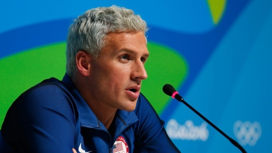 Ryan Lochte on Day 7 of the Rio Olympics on August 12, 2016 in Rio de Janeiro, Brazil.