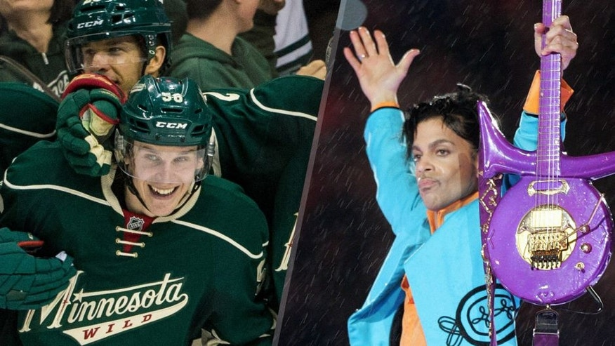 """Prince will be a part of the Minnesota Wild's 2016-17 season, as the team will celebrate its goals with his song """"Let's Go Crazy."""""""