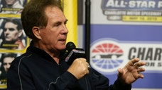 BRISTOL, TN - APRIL 17: Team owner Darrell Waltrip speaks to the media during a press conference prior to practice for the NASCAR Sprint Cup Series Food City 500 at Bristol Motor Speedway on April 17, 2015 in Bristol, Tennessee. (Photo by Sarah Glenn/NASCAR via Getty Images)