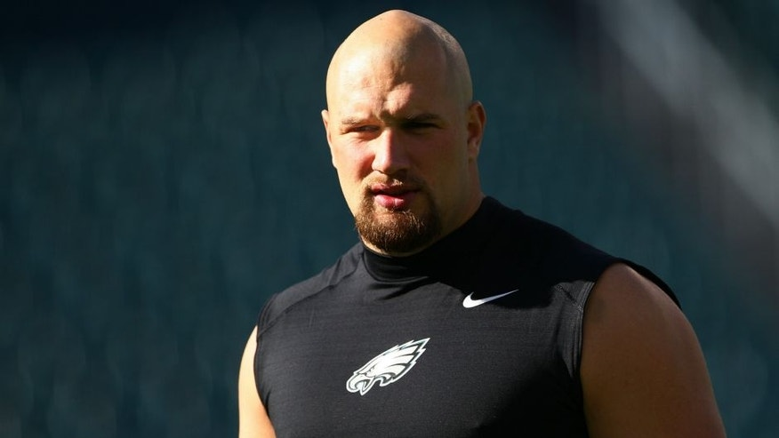 PHILADELPHIA, PA - NOVEMBER 15: Lane Johnson #65 of the Philadelphia Eagles before the start of a football game against the Miami Dolphins at Lincoln Financial Field on November 15, 2015 in Philadelphia, Pennsylvania. (Photo by Rich Schultz /Getty Images)