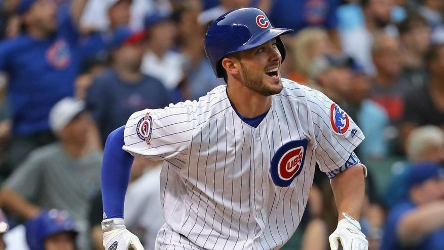 <p>CHICAGO, IL - JULY 28: at Wrigley Field on July 28, 2016 in Chicago, Illinois. (Photo by Jonathan Daniel/Getty Images),CHICAGO, IL - JULY 28: Kris Bryant #17 of the Chicago Cubs bats against the Chicago White Sox at Wrigley Field on July 28, 2016 in Chicago, Illinois. (Photo by Jonathan Daniel/Getty Images)</p>