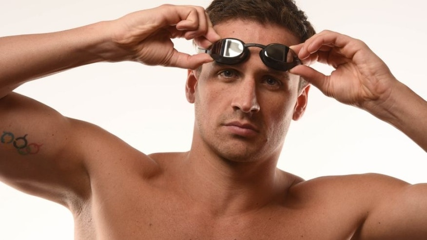 Mar 7, 2016; Los Angeles, USA; USA swimmer Ryan Lochte poses for a portrait during the 2016 Team USA Media Summit at the Beverly Hilton. Mandatory Credit: Robert Hanashiro-USA TODAY Sports