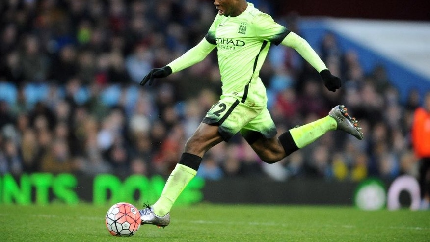 FILE - In this Saturday, Jan. 30, 2016 file photo, Manchester City's Kelechi Iheanacho scores his hat-trick against Villa during the English FA Cup fourth round soccer match between Aston Villa and Manchester City at Villa Park in Birmingham, England. There's set to be an $800 million cast of globally acclaimed superstars taking the field for the Manchester derby in the English Premier League on Saturday, Sept. 10, 2016. Marcus Rashford of United and Kelechi Iheanacho of City are fearless, free-spirited strikers who are living proof that kids can still break through at top clubs in the world's most lucrative league. That they've started the season as the No. 2 strikers for their teams is testament to their ability and the faith being shown in them by their managers. (AP Photo/Rui Vieira, File)