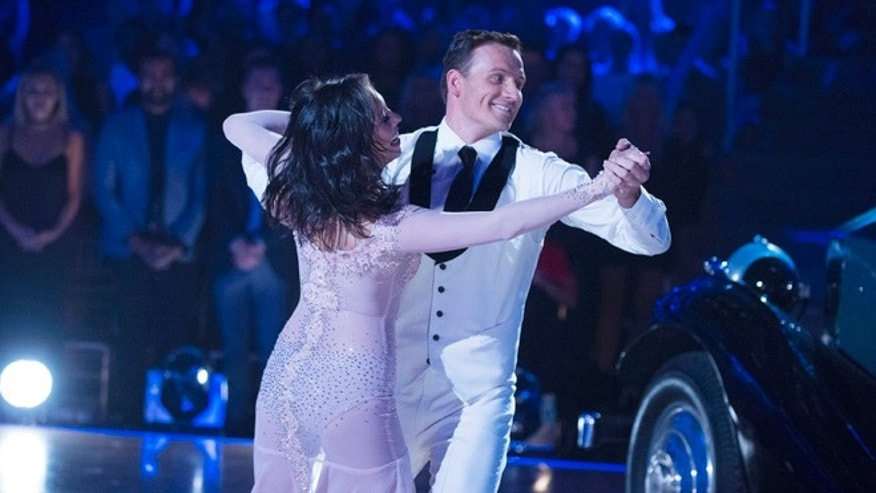"Cheryl Burke and Ryan Lochte on ""Dancing with the Stars,"" on Monday, Sept. 12, 2016."