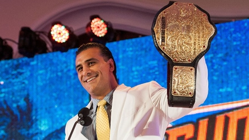 BEVERLY HILLS, CA - AUGUST 13: Alberto Del Rio attends WWE SummerSlam Press Conference at Beverly Hills Hotel on August 13, 2013 in Beverly Hills, California. (Photo by Valerie Macon/Getty Images)