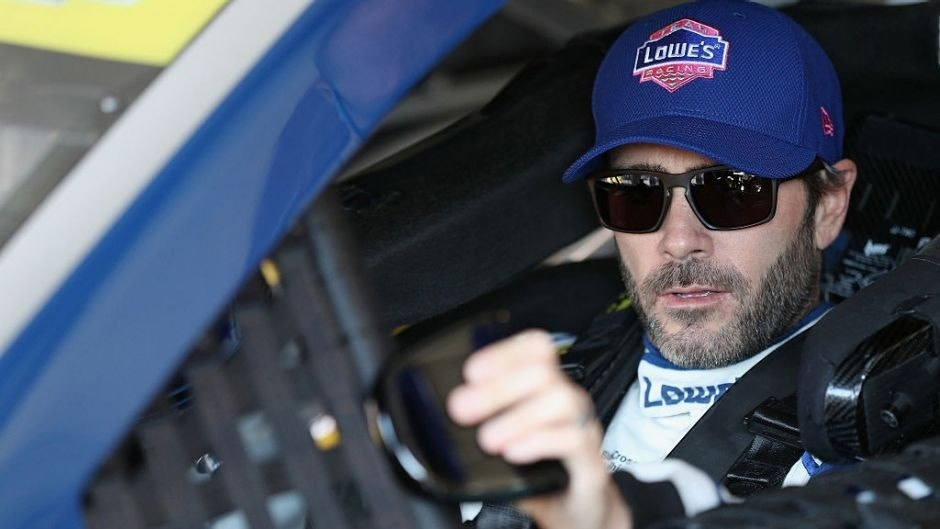 TALLADEGA, AL - OCTOBER 21: Jimmie Johnson, driver of the #48 Lowe's Pro Services Chevrolet, sits in his car during practice for the NASCAR Sprint Cup Series Hellmann's 500 at Talladega Superspeedway on October 21, 2016 in Talladega, Alabama. (Photo by Patrick Smith/Getty Images)