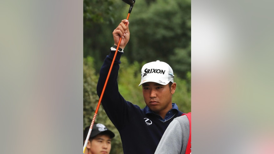 Japan's Hideki Matsuyama prepares to tee off during the 2016 WGC-HSBC Champions golf tournament at the Sheshan International Golf Club in Shanghai, China, Friday, Oct. 28, 2016. (AP Photo/Ng Han Guan)