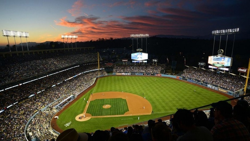 Jul 3, 2015: A general view of Dodger Stadium during a Los Angeles Dodgers game.