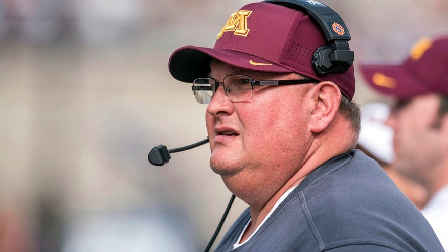 Oct. 29, 2016: Minnesota coach Tracy Claeys watches from the sideline during the second quarter of an NCAA college football game against Illinois at Memorial Stadium in Champaign, Ill.