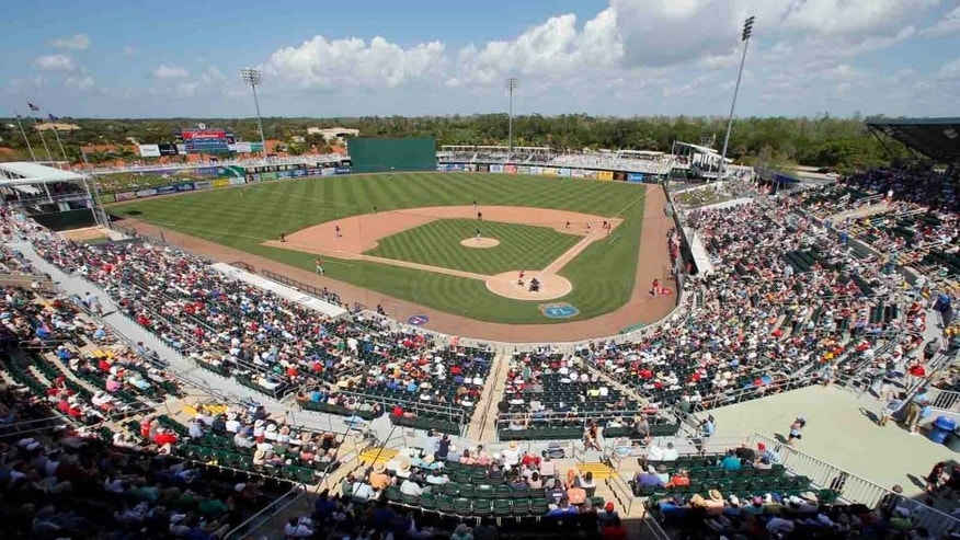 The Boston Red Sox play the Minnesota Twins at Hammond Field at Century Sports Complex during a spring training baseball game Thursday, March 31, 2016, in Fort Myers, Fla.